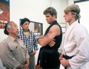 professionalism in the martial arts industry as contrasted by Mr. Miyagi and that Cobra Kai dude