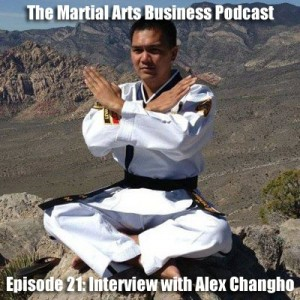 martial arts business podcast interview with Alex Changho