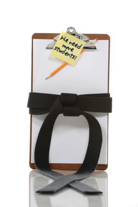 Clipboard for martial arts sales tips
