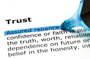 Trust definition close up