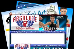 Martial arts web design samples