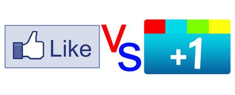 Google+ vs Facebook Like