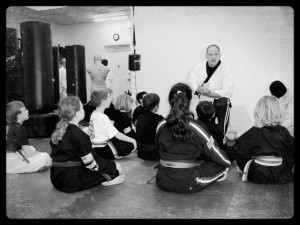 Martial art character education lesson