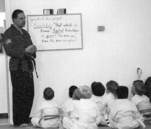 Teaching martial arts character education