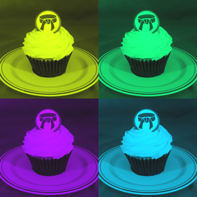 Black belt cupcake