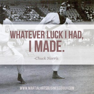 Chuck Norris on luck