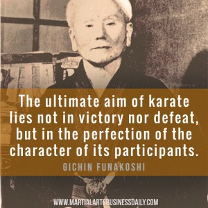Gichin Funakoshi on perfection
