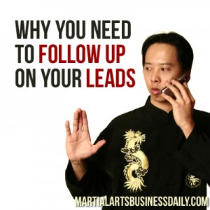 promptly following up on leads