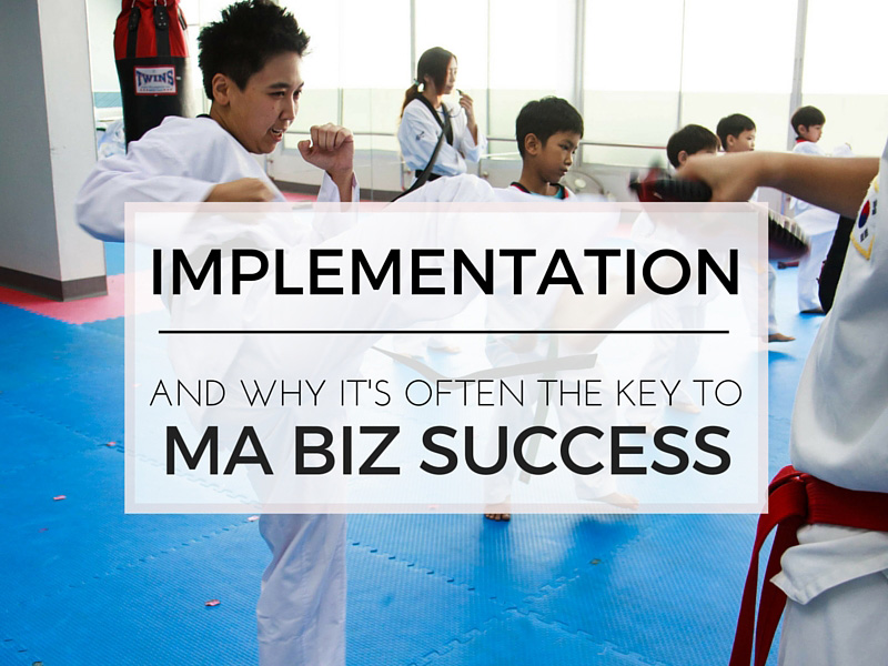 Implementation and martial arts business success